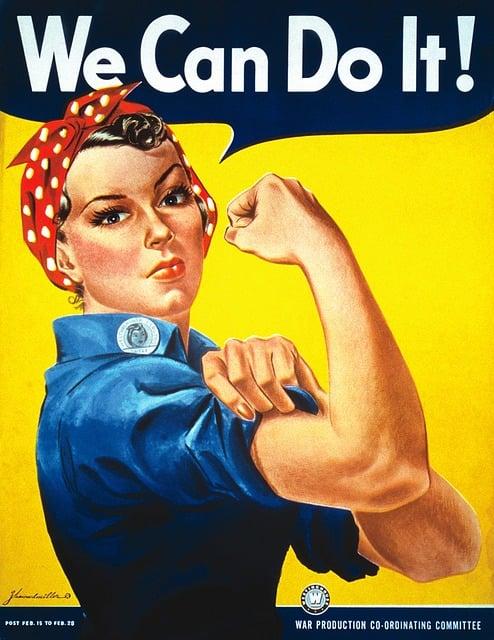 Poster, Vintage, Antique, War, War Poster, Rosie