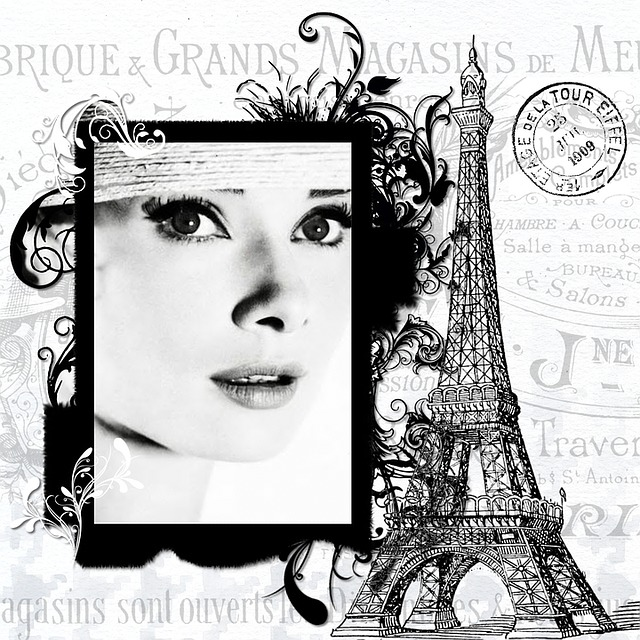 Paris, Audrey Hepburn, Actress, Vintage, Eiffel