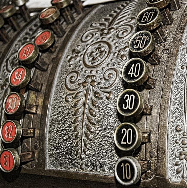 Vintage, Numbers, Cash Register, Old, Retro, Business