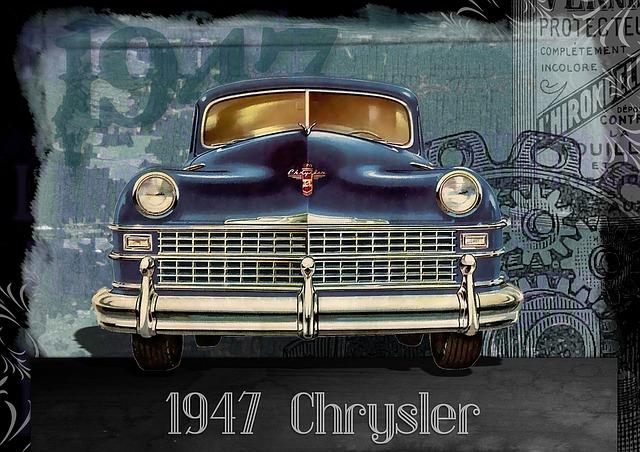 Vintage, Car, Automobile, Chrysler, 1940s, Vintage Cars