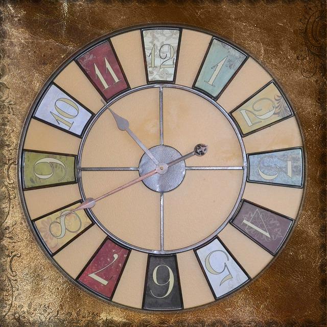 Collage, Vintage, Old, Clock, Antique, Square