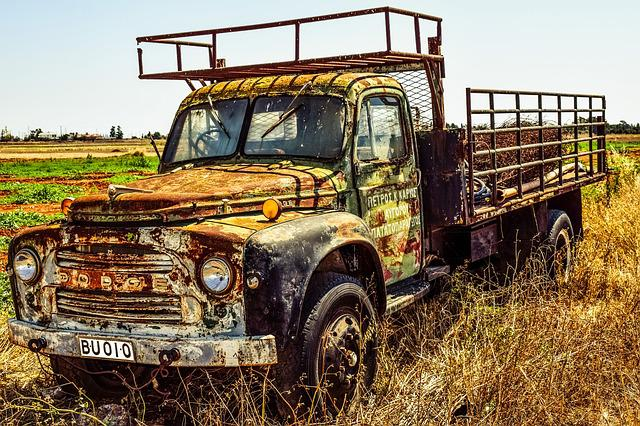 Old Truck, Lorry, Countryside, Rural, Vehicle, Vintage