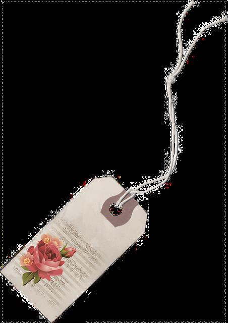 Vintage, Roses, Floral, Tag, Element, Decoration, Label