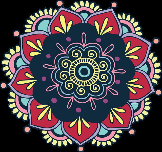 Colorful, Flower, Indian, Floral, Vintage, Bohemian