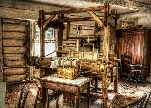 Loom, Weave, Historic, Vintage, Building, Interior, Old