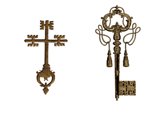 Vintage, Key, Gold, Decorated, Metallic, Old, Noble