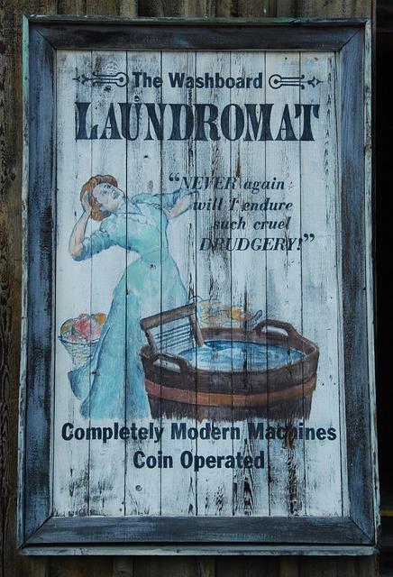 Wash, Laundry, Tub, Washboard, Advertising, Vintage