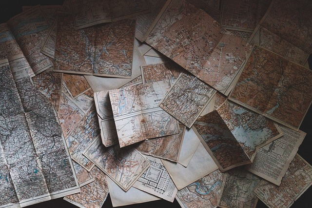 Maps, Pages, Paper, Vintage, Navigation, Old, Historic