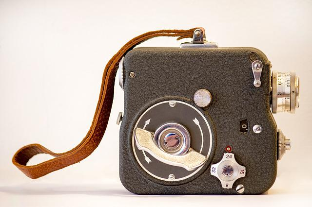 Camera, Film, Movie, Motion, Negative, Old, Vintage