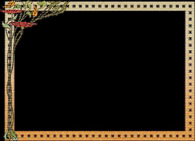 Art Nouveau Frame, Paper Frame, Border, Vintage