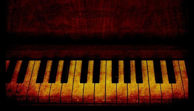 Piano Keys, Piano, Keys, Vintage, Old, Grunge