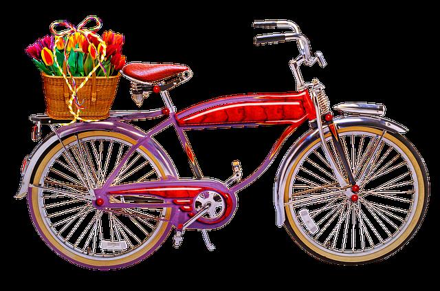 Retro Bicycle, Vintage, Retro, Spring, Basket, Romantic