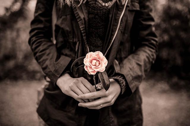 Antique, Vintage, Pink, Flower, Sepia