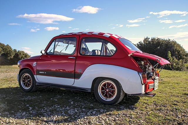 Seat, Six Hundred Abarth, Red, Vintage, Seventies