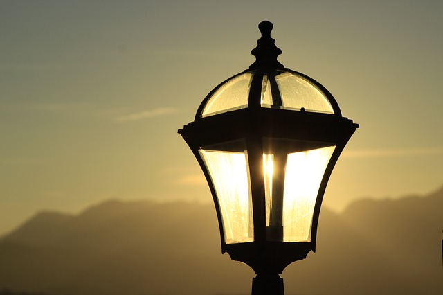 Street Lamp, Lamp, Sunset, Lighting, Vintage