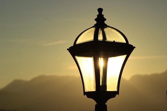 Street Lamp, Lamp, Sunset, Lighting, Vintage