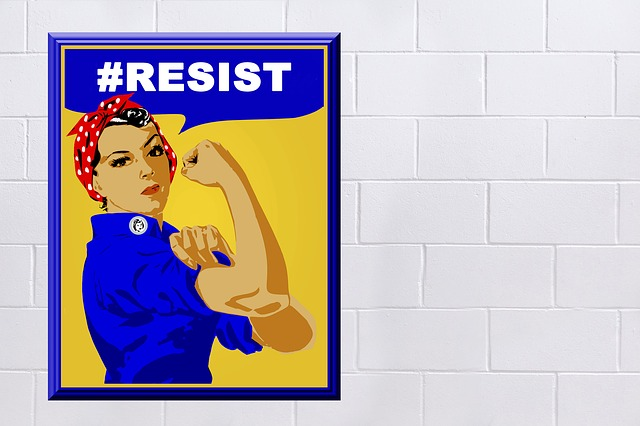 Rosie The Riveter, Poster, Sign, Woman, Symbol, Vintage