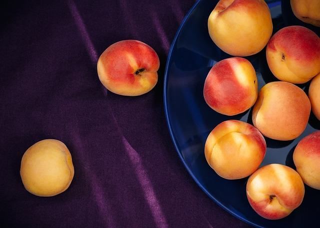 Apricots, Yellow, Orange, Red, Purple, Violet, Fruit