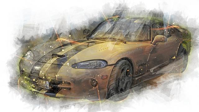Auto, Sports Car, Viper Gts, Yellow, Usa, America