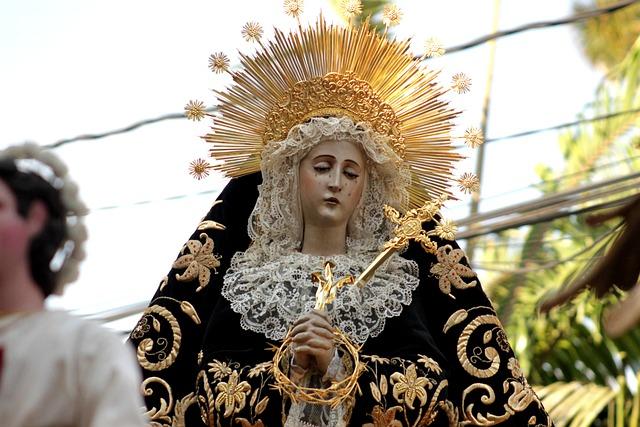 Procession, Virgin Santo Domingo Guatemala