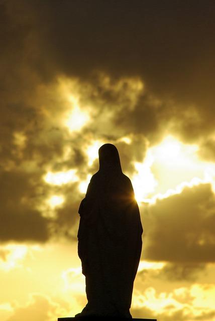 Virgin, Mary, Sky