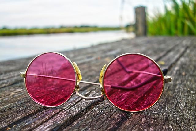 Glasses, Pink Glasses, Lens, Eyesight, Sight, Vision