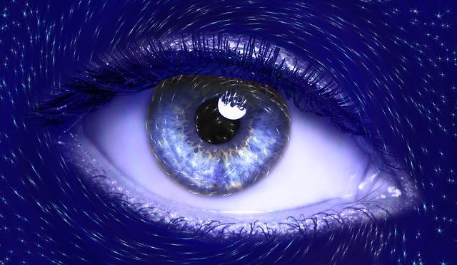 Eye, Blue, Vision, Iris, Futuristic
