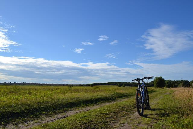 Bike, Mtb, Away, Landscape, Meadow, Clouds, Vision