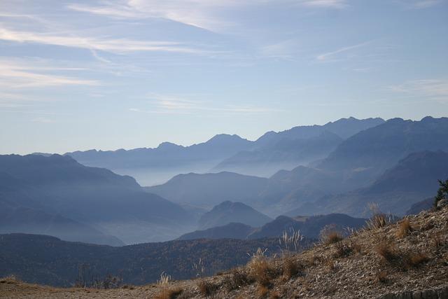 Mountains, Plateau, Sky, Horizon, Winter, Walk, Vista