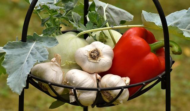 Vegetables, Paprika, Garlic, Healthy, Food, Vitamins