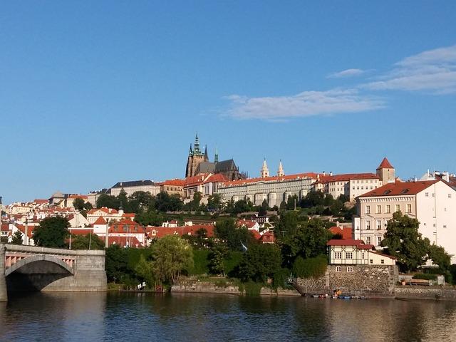 Prague Castle, City, Vltava, Prague