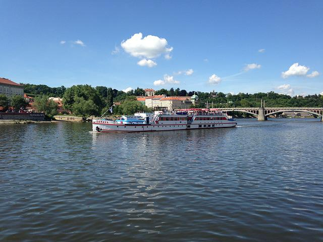 Prague, Vltava, Steamer, River