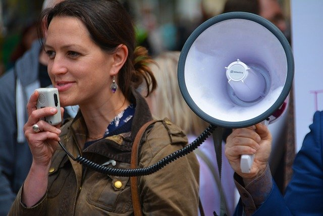 Megaphone, Loud Speaker, Speaker, Voice, Announcement