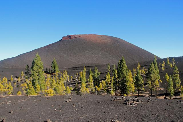 Volcano, Chinyero, Canary Islands, Tenerife Landscape