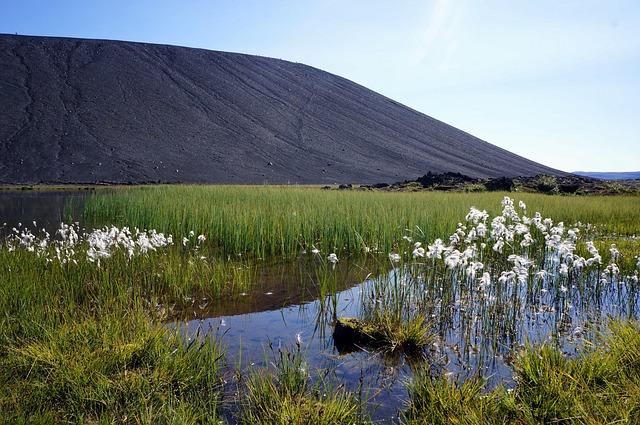 Iceland, Nature, Volcano, Lake, Landscape