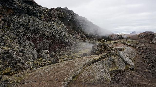 Volcano, Lava, Vapors, Iceland