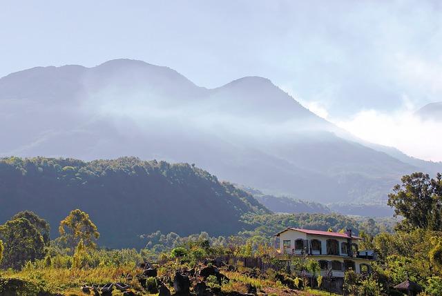 Guatemala, Lake Atitlán, San Antonio, Clouds, Volcanoes