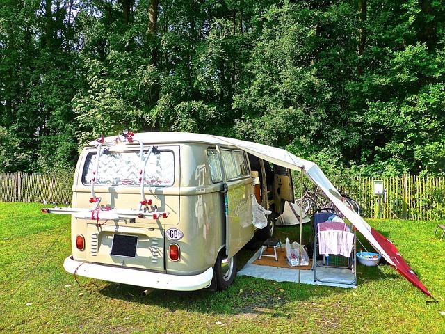 Camping, Combi Van, Retro, Volkswagen, Touring