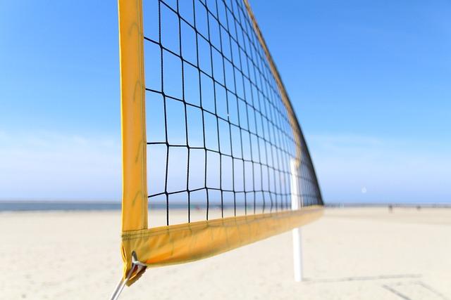 Volleyball, Beach, Beach Volleyball, Volleyball Net
