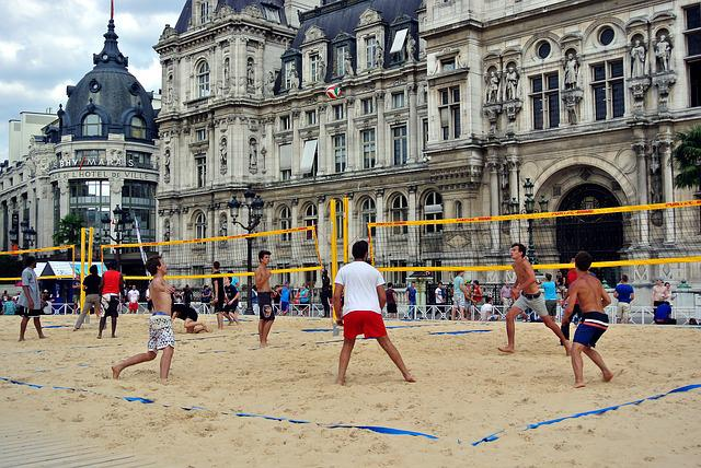 Volleyball, Beach Volleyball, Urban, Paris, Town Hall