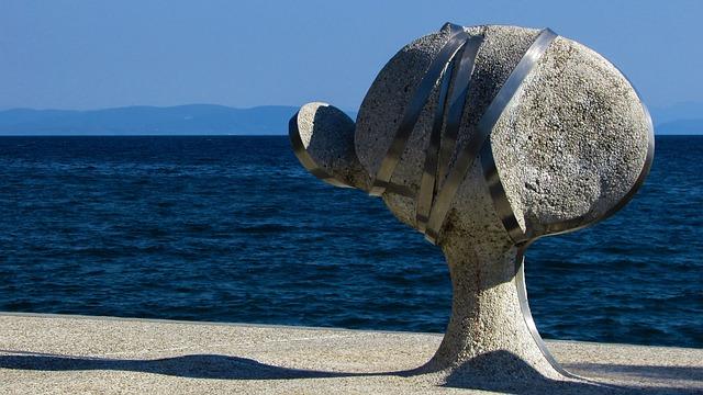 Greece, Volos, Anavros Park, Sculpture, Art, Modern