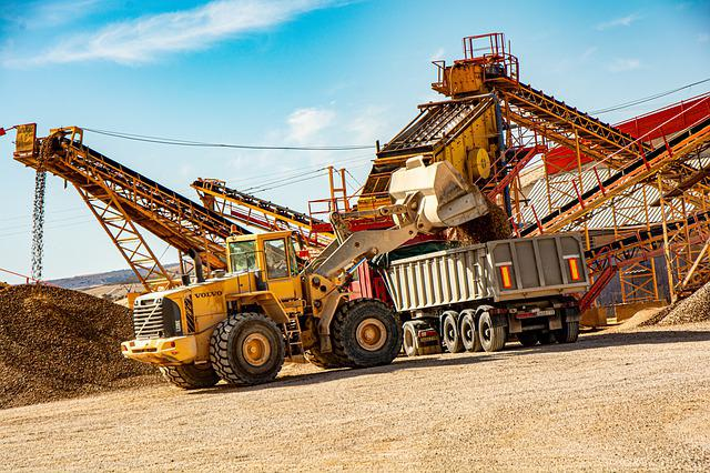 Machinery, Gravel Pit, Volvo, Loader