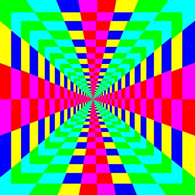 Maze, Rainbow, Vortex, Geometric, Shapes, Bright