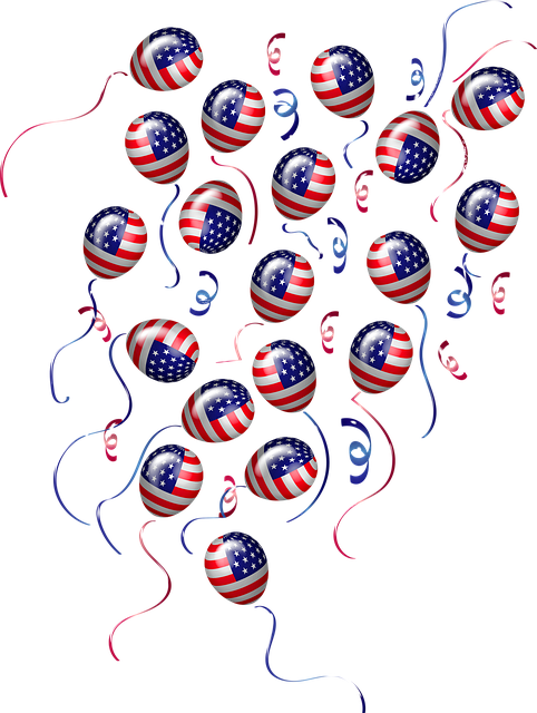 Election 2020, Vote, Flag Balloons, Usa, Democracy