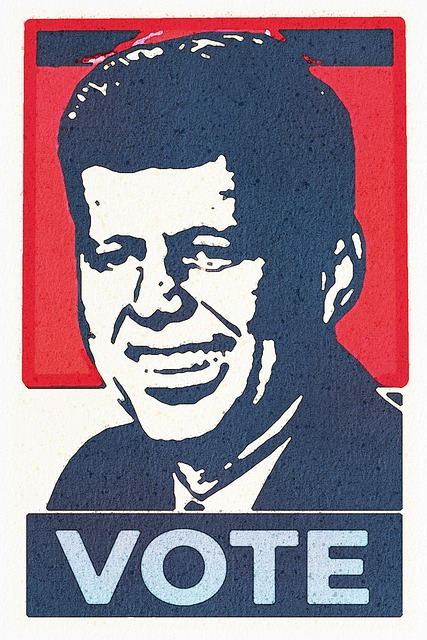 Watercolor, John F Kennedy Poster, Vote Poster