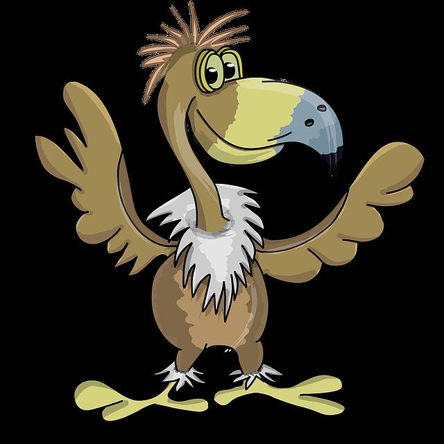 Bird, Vulture, Eagle, Beak, Cartoon, Big Eyes