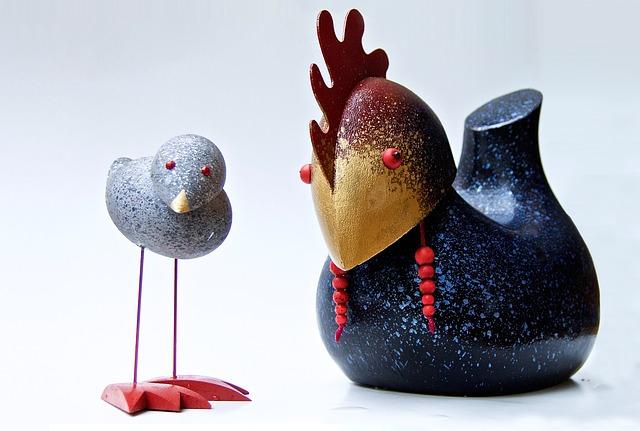 Wader, Chicken, Craft, Wood, Funny, Toys, Original