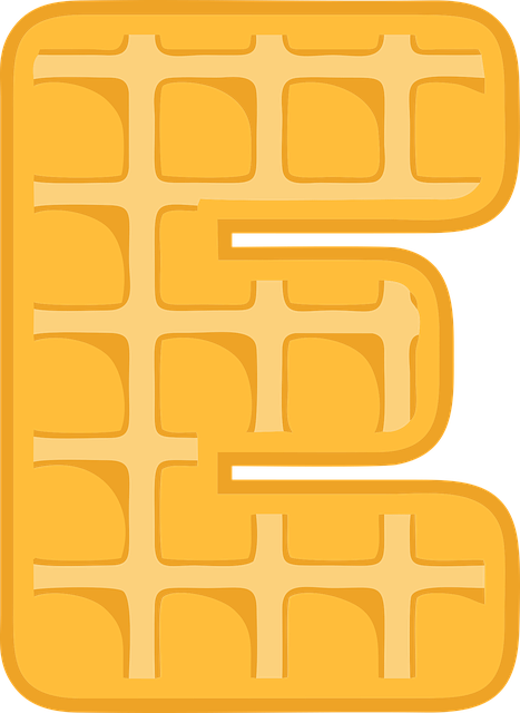 E, Alphabet, Waffle, Letter, Typography, Text, Font