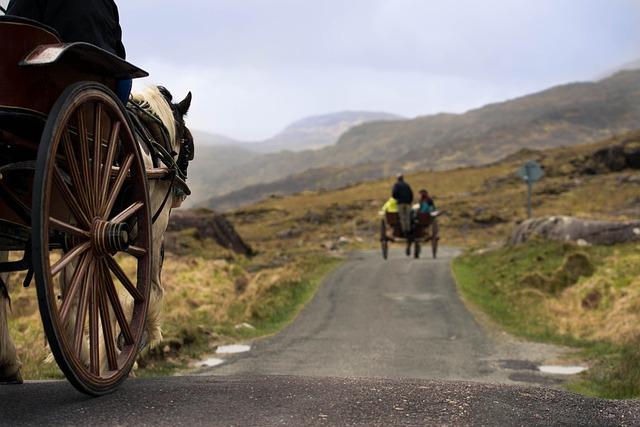 Ireland, Gap Of Dunloe, Wagon, Horse
