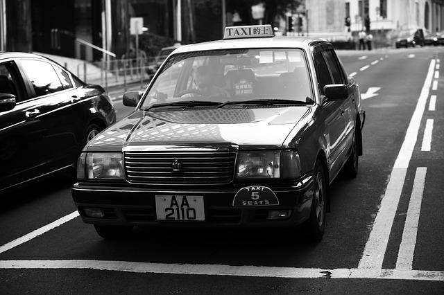 Hong Kong, Junction, Taxis, Wait
